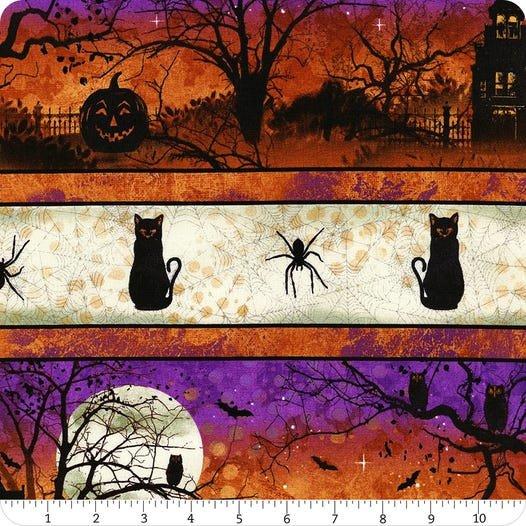 Frightful Night- Repeating Stripe Multi