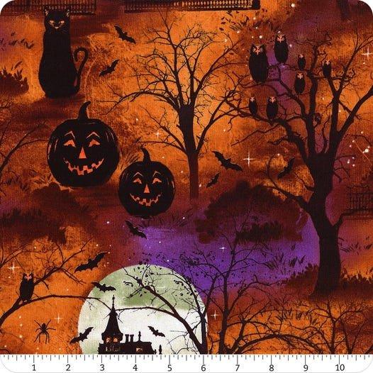 Frightful Night- Scenic Overall Orange