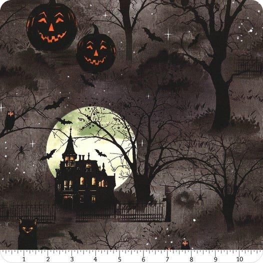 Frightful Night- Scenic Allover Black