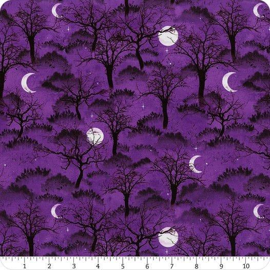 Frightful Night- Purple Trees & Moon