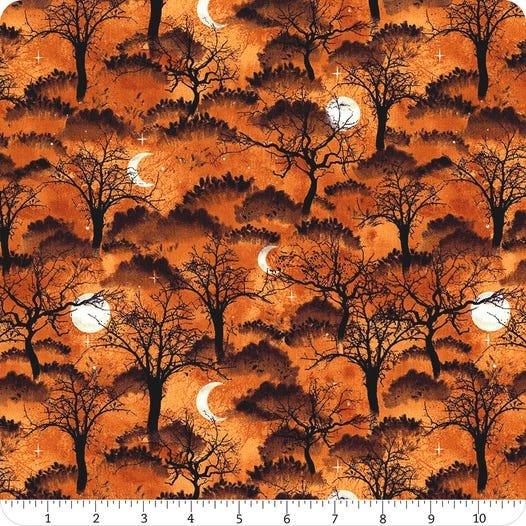 Frightful Night- Orange Trees & Moon