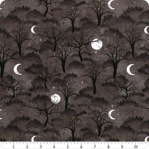 Frightful Night- Black Trees & Moon