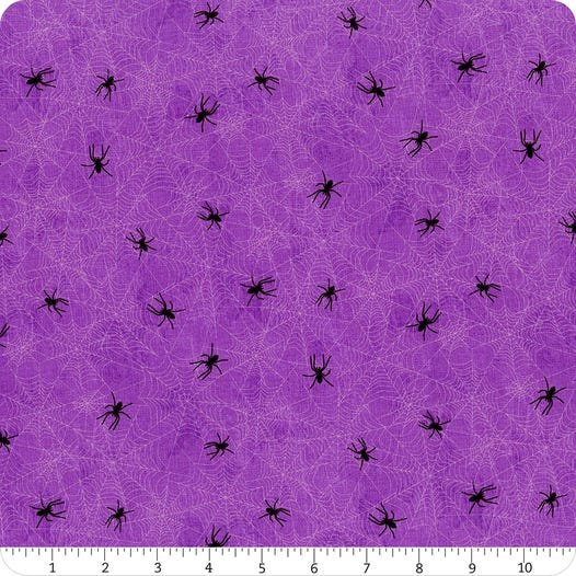 Frightful Night- Purple Spider Web