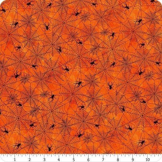 Frightful Night- Orange Spider Web