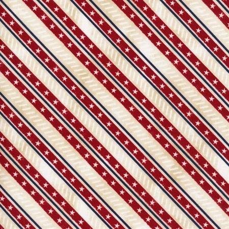Liberty Lane - Diagonal Stripe Cream