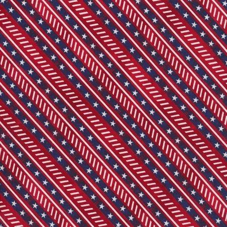 Liberty Lane - Diagonal Stripe Red