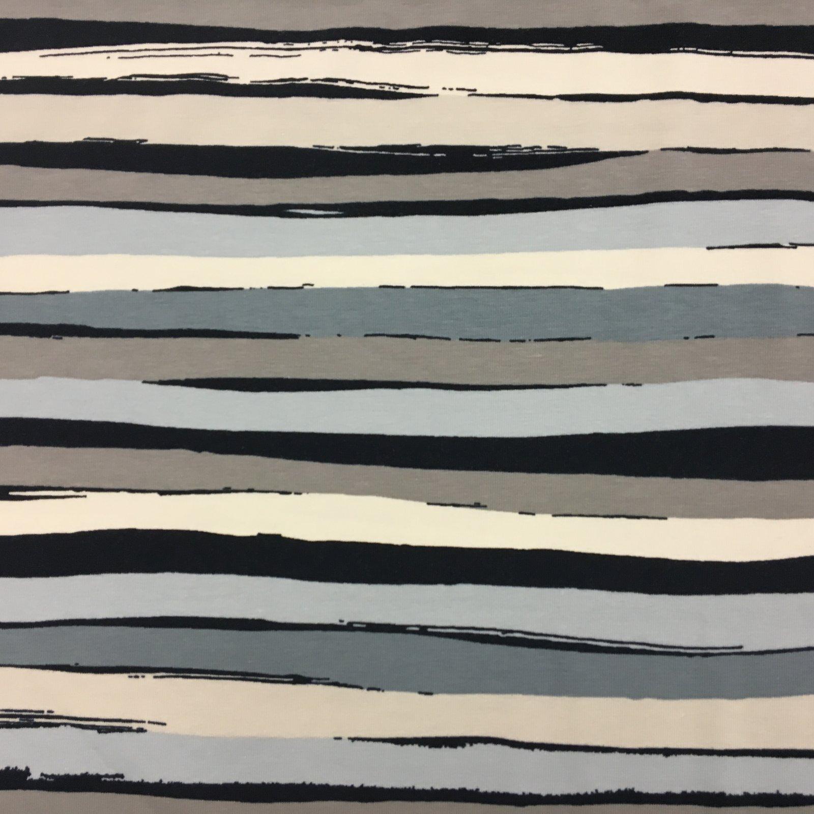 Avalana Jersey Navy/Grey/Cream Irregular Stripe