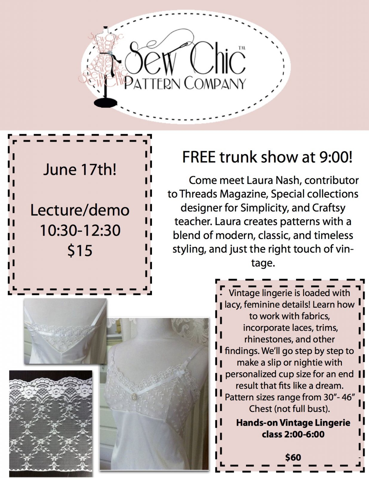 Sew Chic with Laura Nash-Trunk Show