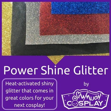Cosplay Power Shine Glitter Blue