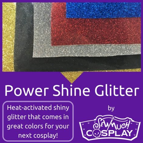 Cosplay Power Shine Glitter Gold