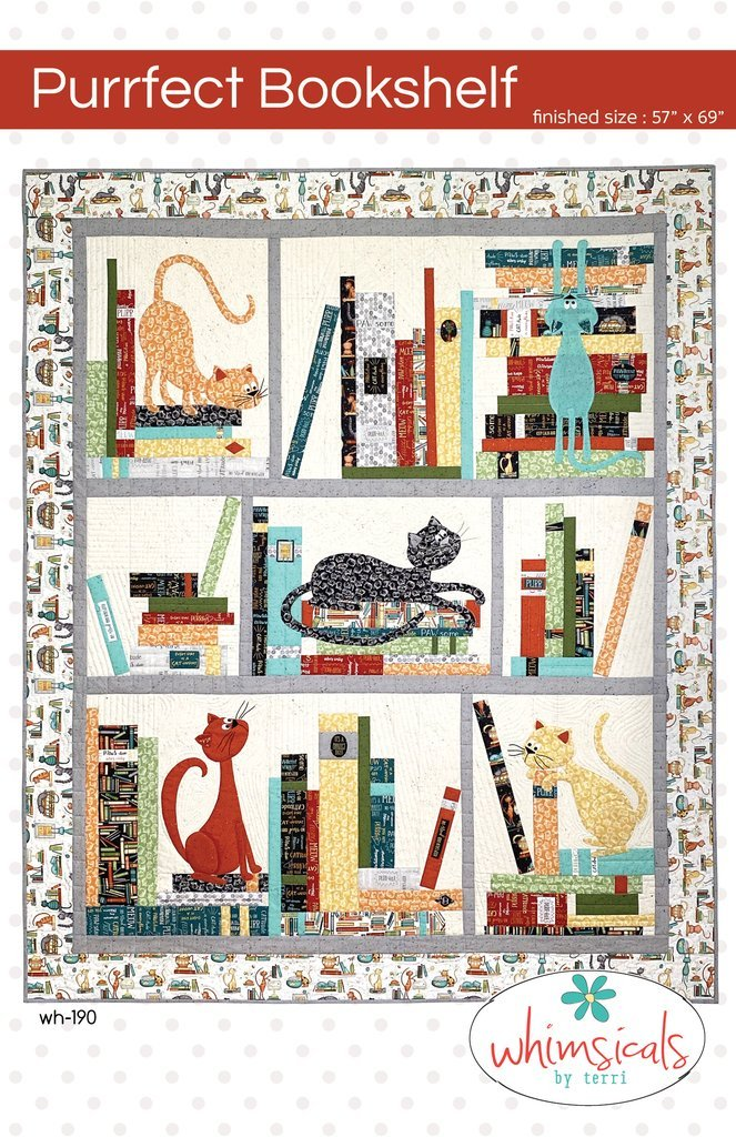 Purrfect Library Quilt Kit