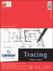 Canson Tracing Paper Pad 9X12