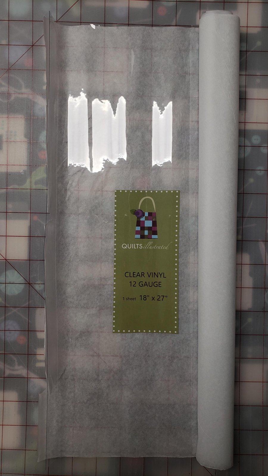 Clear Vinyl, 12 Gauge 18 x 27