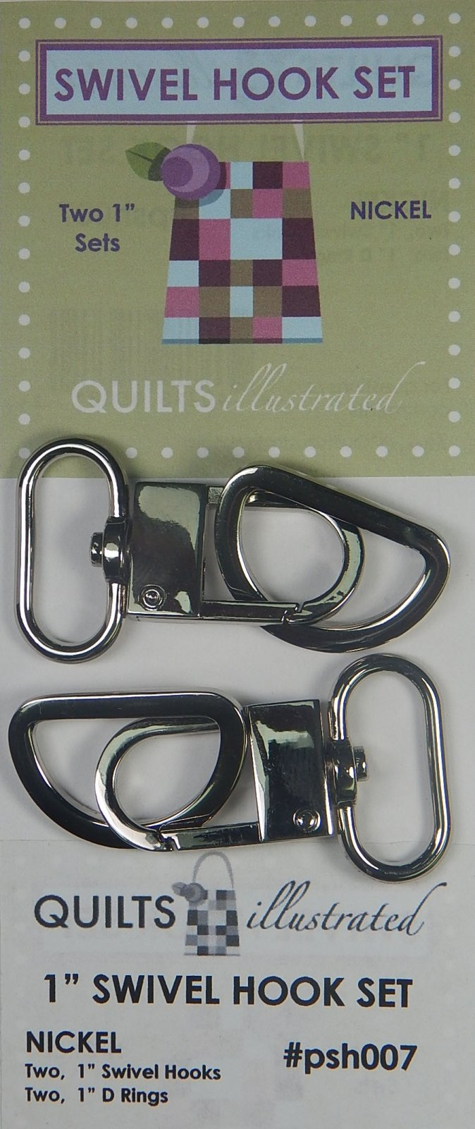 1 Swivel Hook Set - Nickel - psh007
