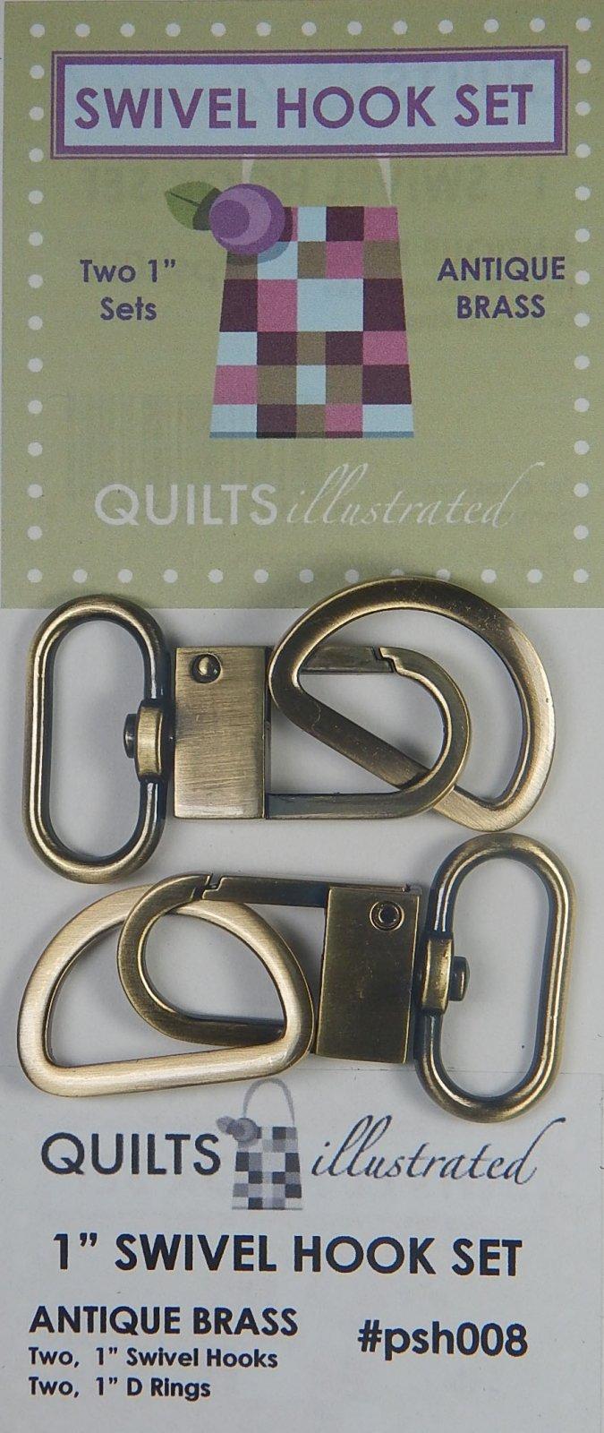 1 Swivel Hook Set - Antique Brass - psh008