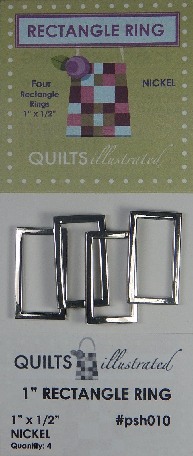 1 Rectangle Ring Set - Nickel - psh010