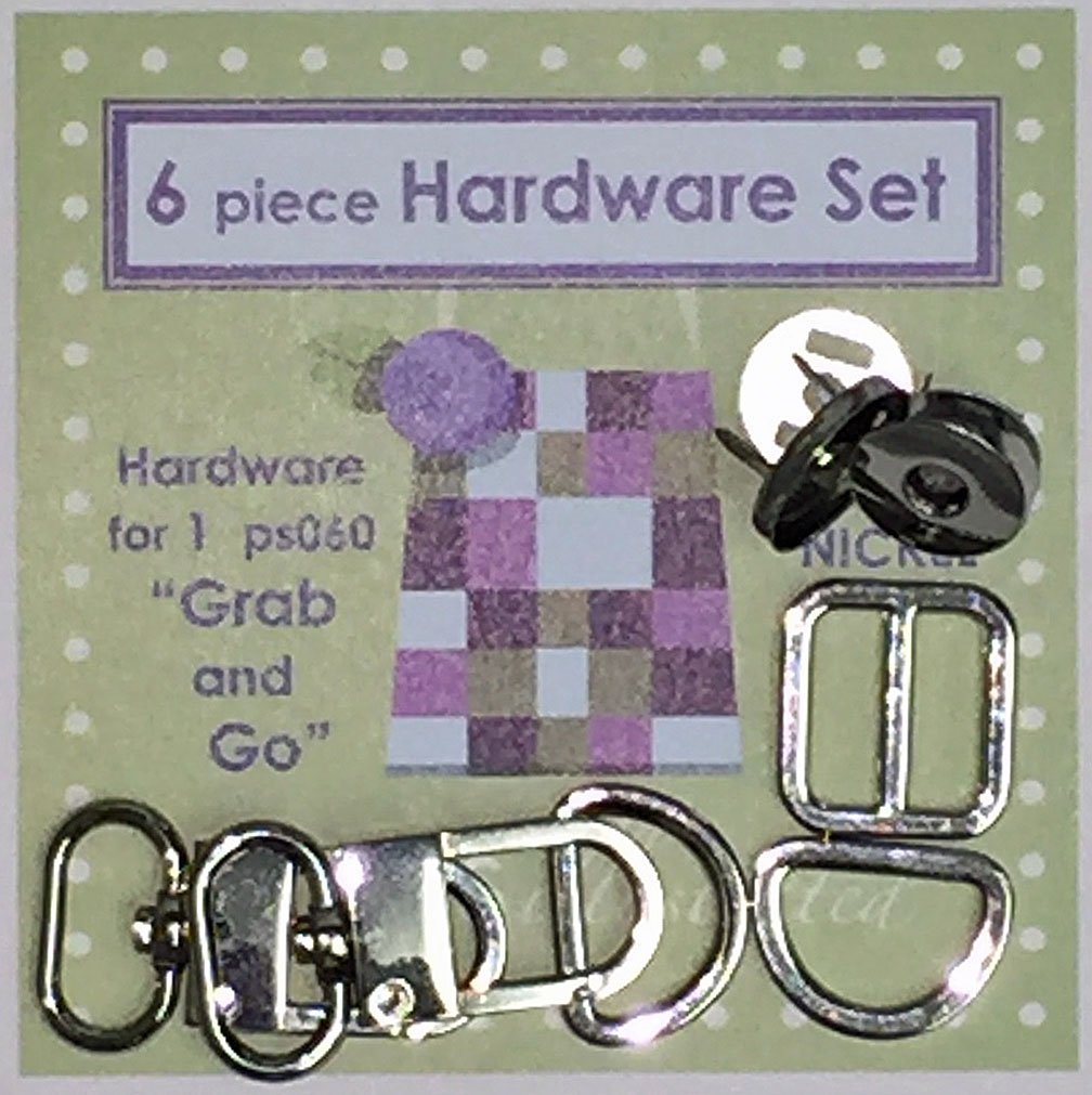 6 piece 3/4 Hardware Set--Shiny Nickel (psh024)