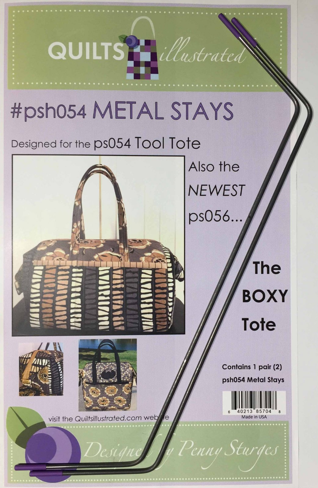 psh054 Metal Stays (for the Tool Tote or Boxy Tote)