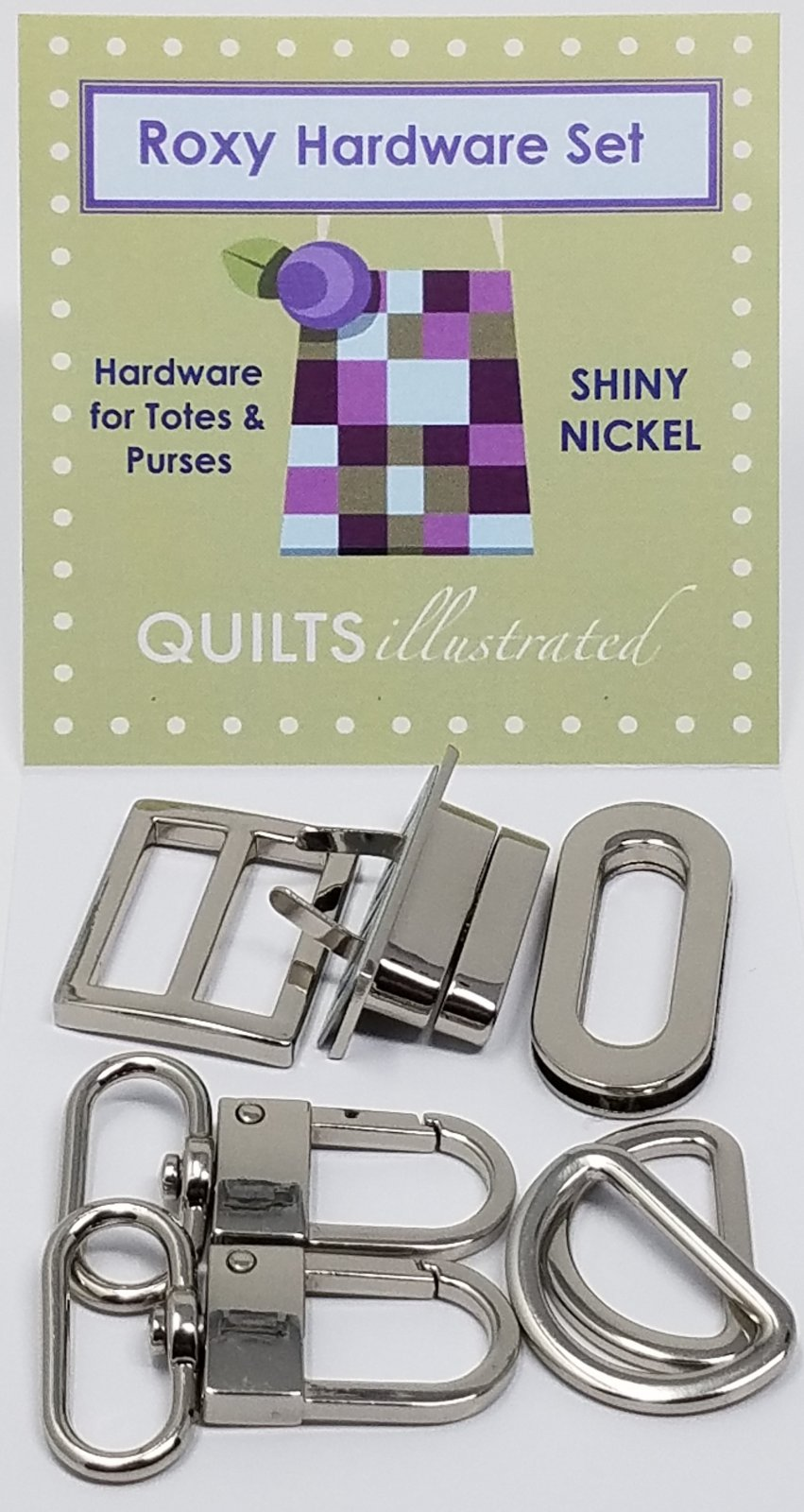 Roxy Hardware Set--Shiny Nickel (psh037)