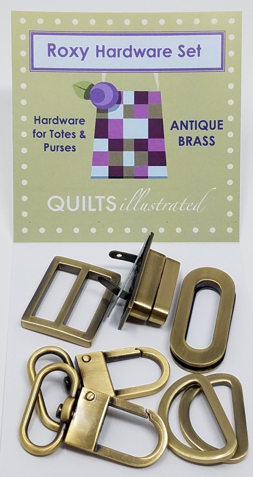 Roxy Hardware Set--Antique Brass (psh038)