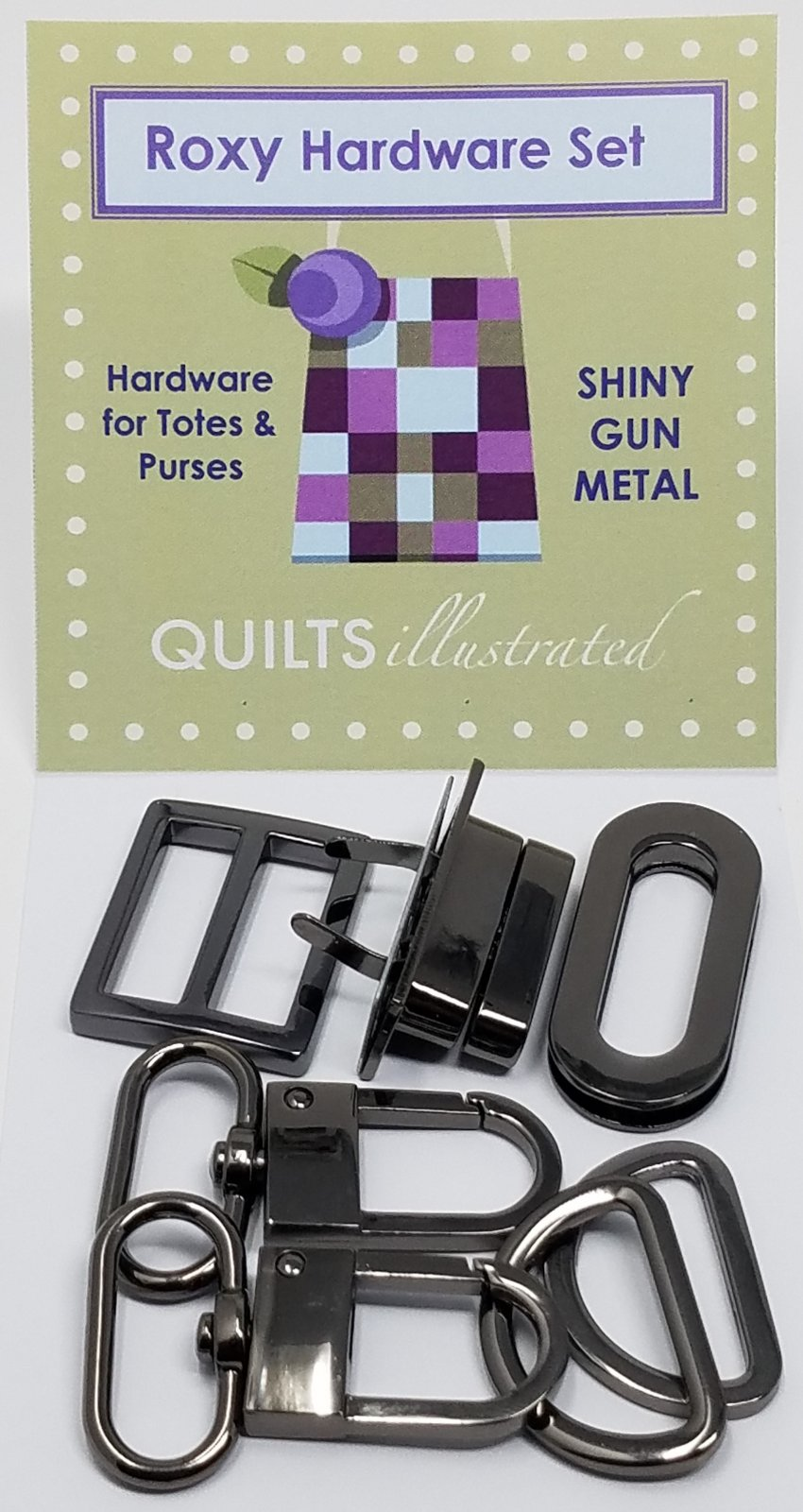 Roxy Hardware Set--Shiny Gunmetal (psh039)