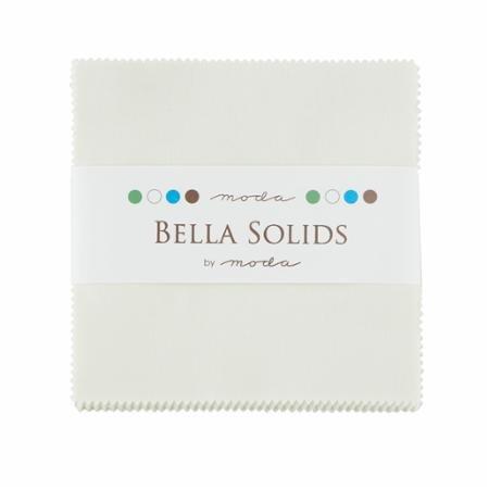 Bella Solids Charm Pack Porcelain
