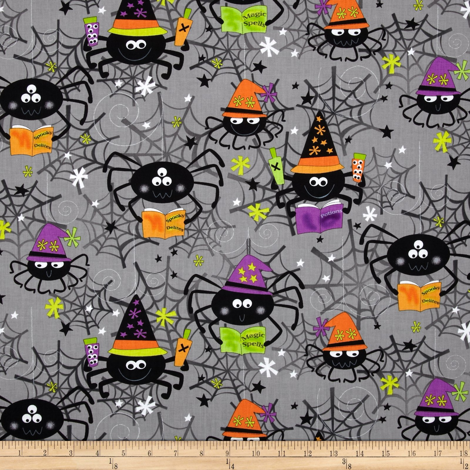 Spooktacular II - spiders on gray