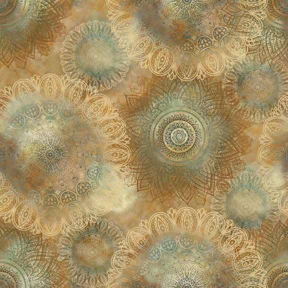 Arabesque--beige large print
