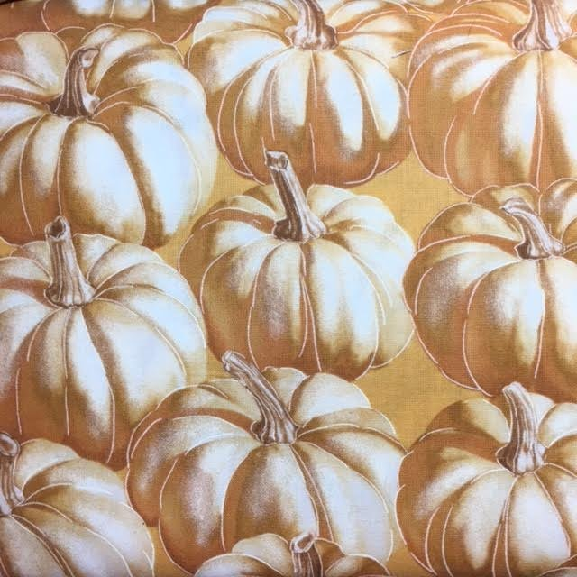 Autumn Fauna - cream/mustard pumpkins