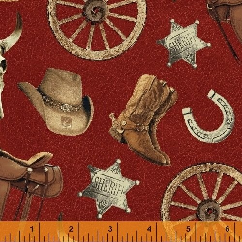 Cattle Drive--western items red