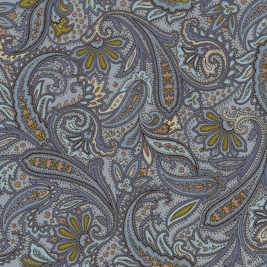 Hold Your Horses blue paisley