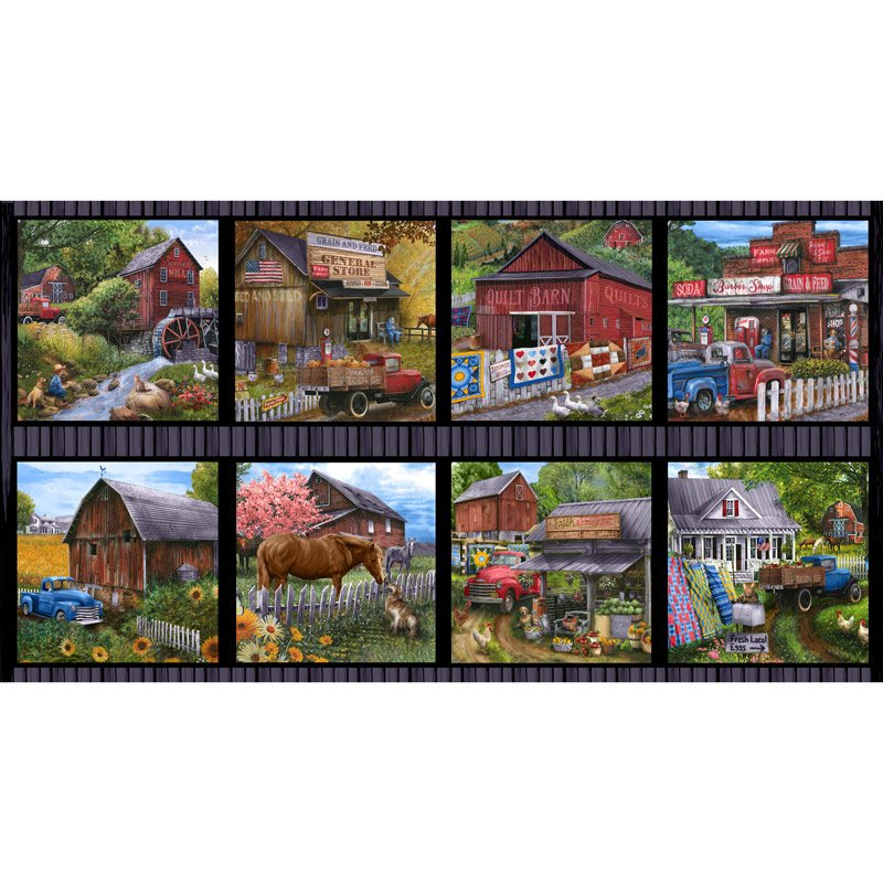Country Paradise barn panel
