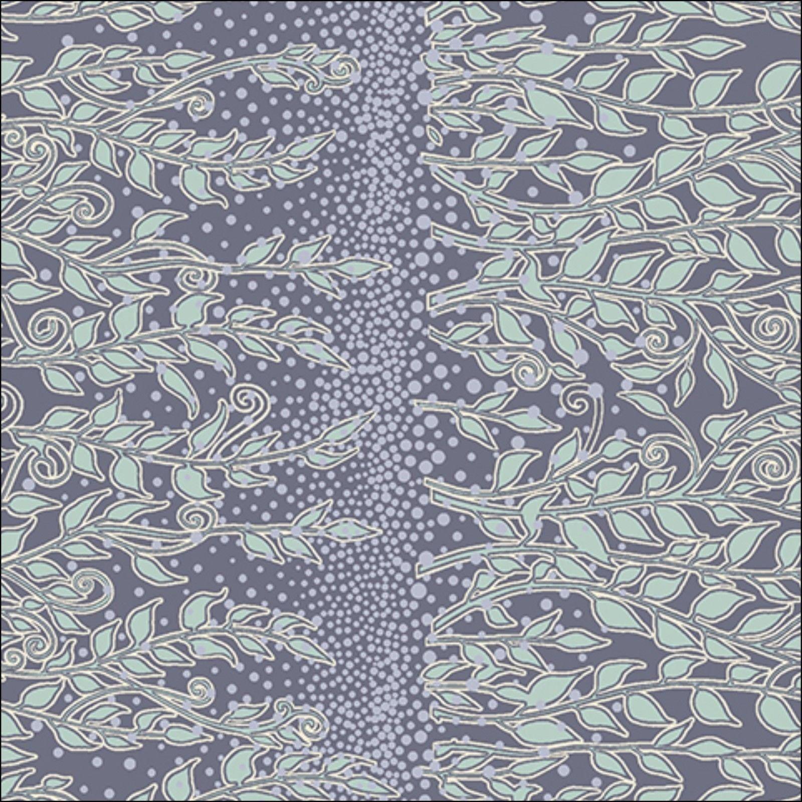 Enchantment - sage vine stripe on purple