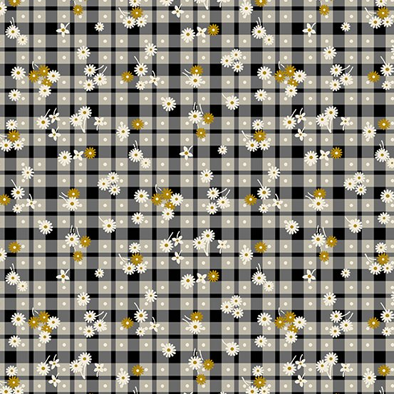 Barnyard Babies by Two grey and gold gingham