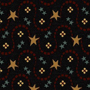 Bramble Berries - stars on navy