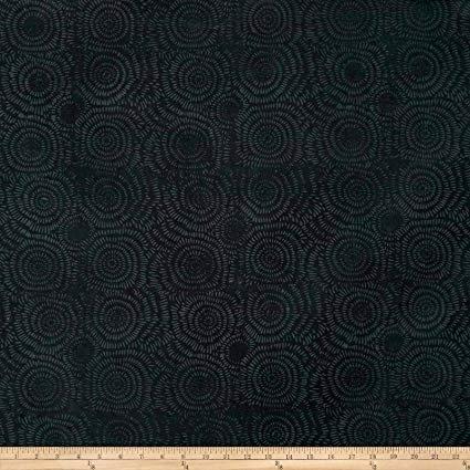 Island Batik dandelion black