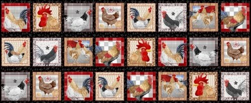 Chicken Scratch chicken 24 blocks panel