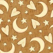 Expressions of Faith - brown hearts/stars