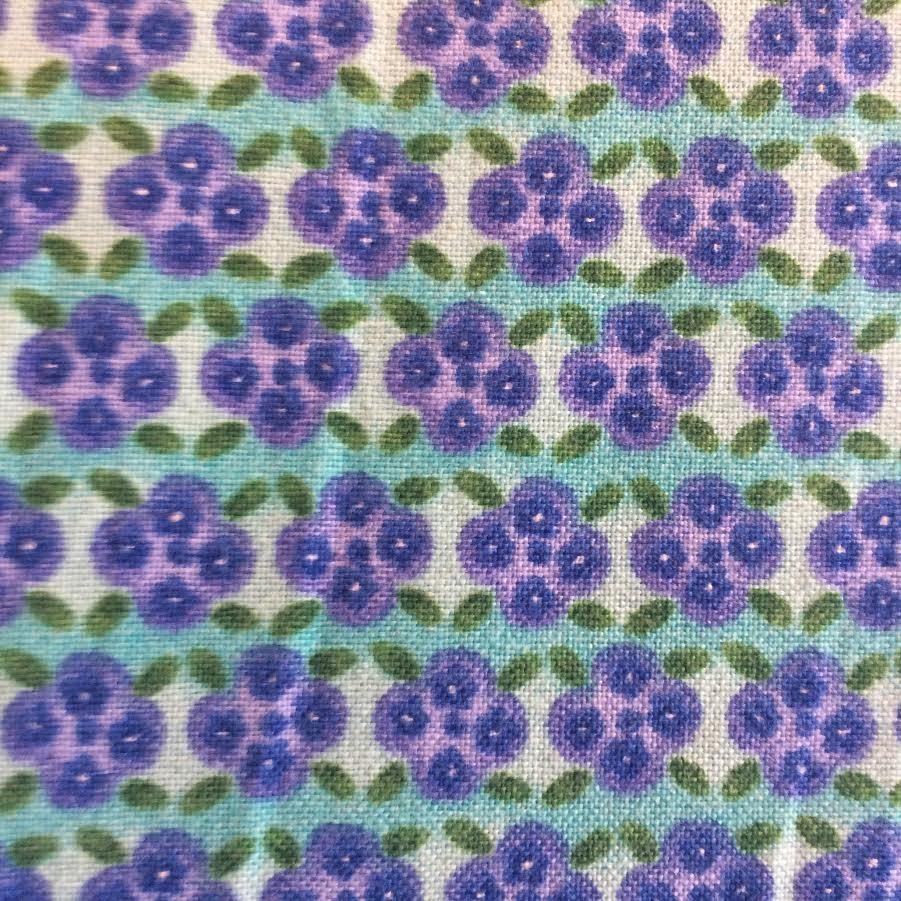 Duquesa teal with purple floral