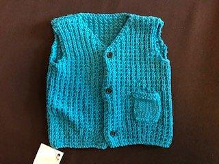Boys Blue Vest Size 2T