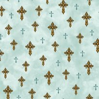 Amazing Grace Teal Crosses