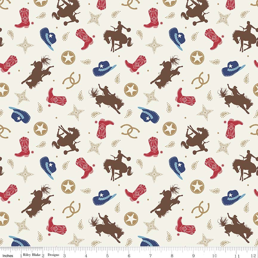 Cowgirl/boy Toss Multi Flannel