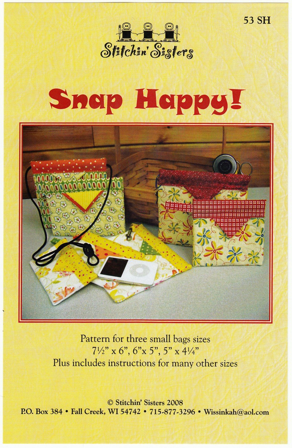 Snap Happy Bags (M) - Stitchin' Sisters
