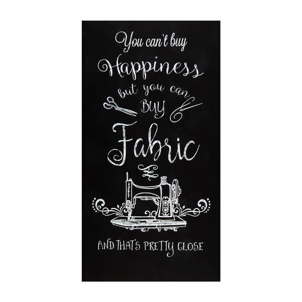 Can't Buy Happiness Fabric Panel