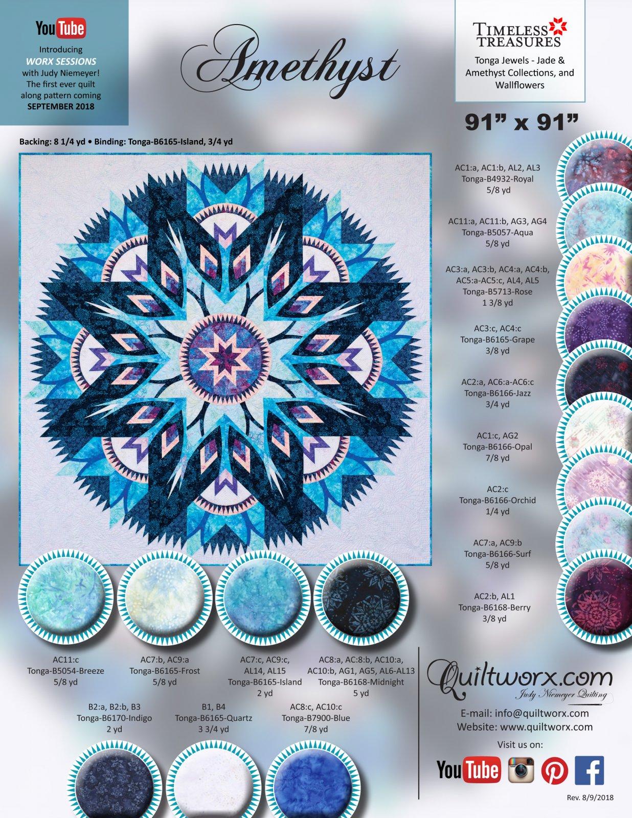 Amethyst Fabric Quilt Kit