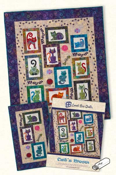 Cat's Meow <br> By Lunch Box Quilts