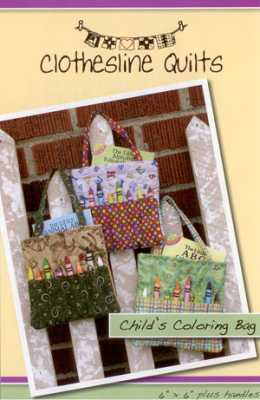 Child's Coloring Bag   by Clothesline Quilts