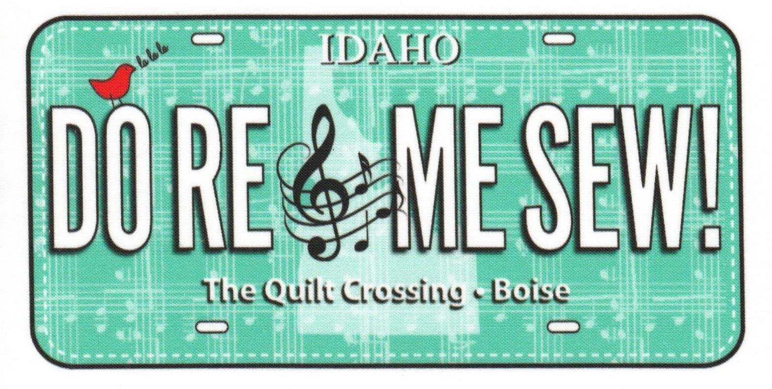 2018 Row By Row License Plate -  Do Re Me Sew
