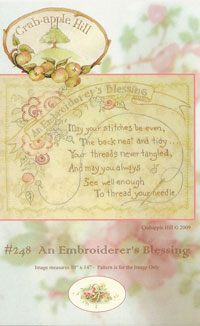 An Embroiderer's Blessing   Crabapple Hill