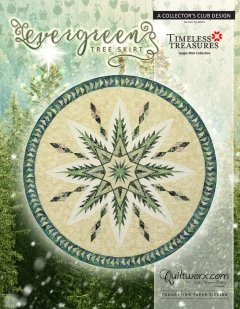 Evergreen Tree Skirt Fabric Kit <br> A Collector's Club Design